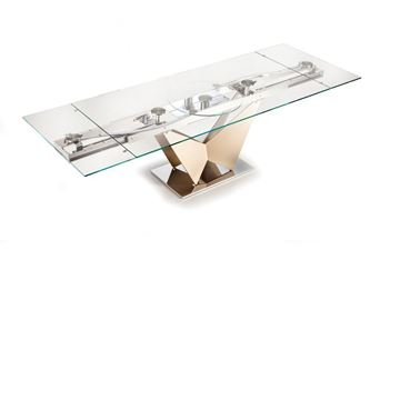 Picture of Naos Ventaglio Dining Table Rectangular Glass