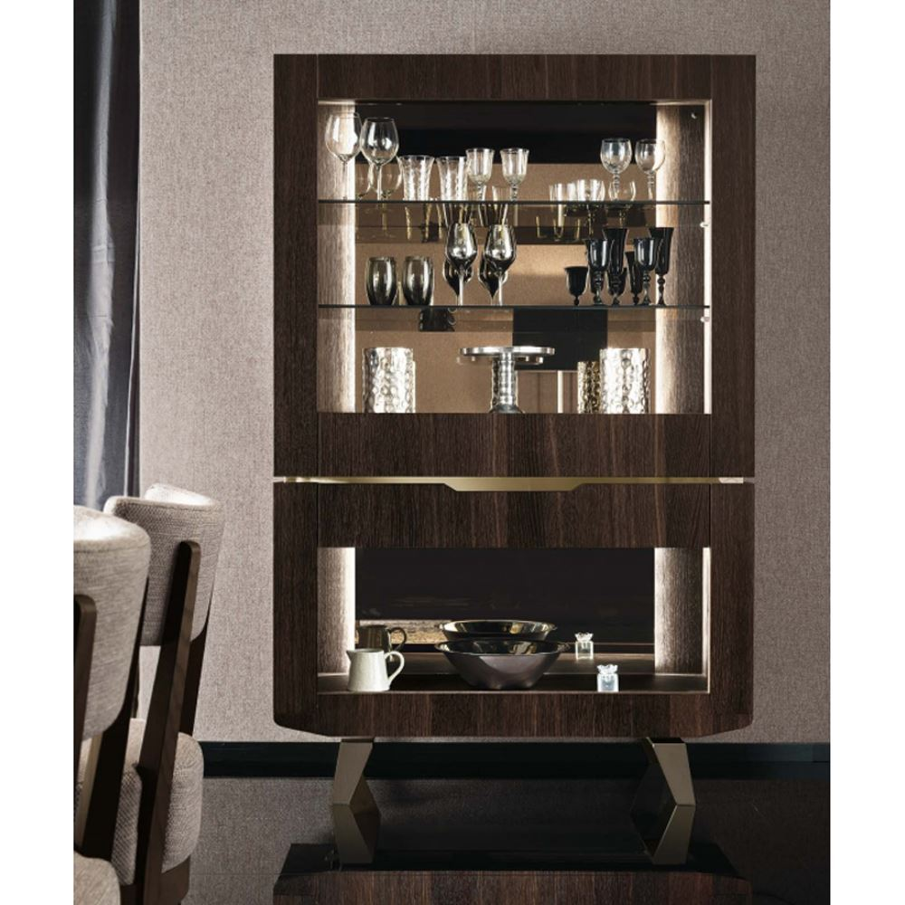 Dining Display Cabinets: Fosters Furniture. ALF Accademia Dining Curio Display Cabinet