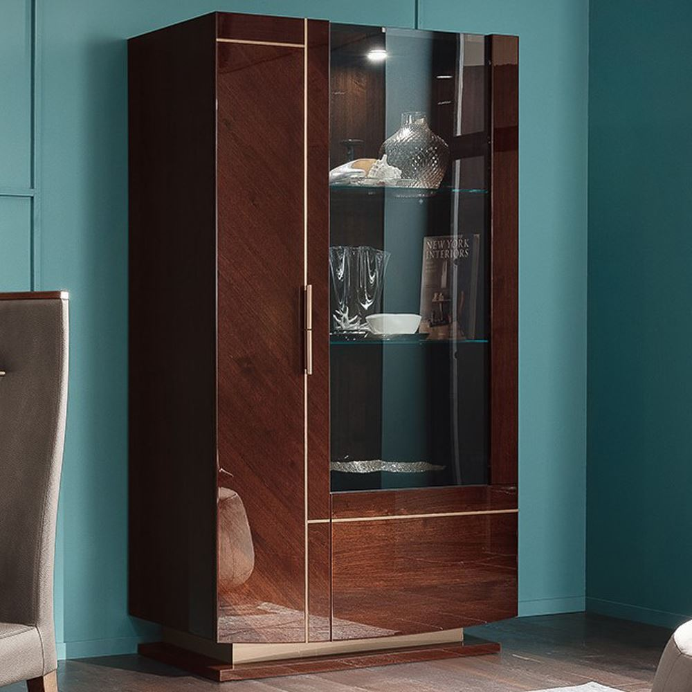 Dining Display Cabinets: Fosters Furniture. ALF Bellagio Dining Curio Display Cabinet