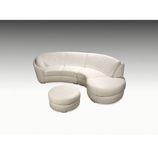 Picture of Planum Rusco Right Bumper Leather Sectional - In Stock