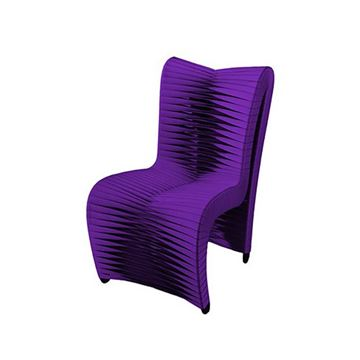 Picture of Phillips Collection Seat Belt Dining Chair Purple High Back