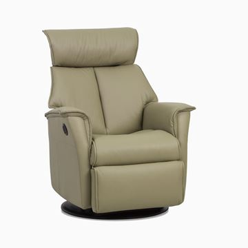 Picture of IMG Boss Large Size  Recliner in Stock In Leather Trend Cinder