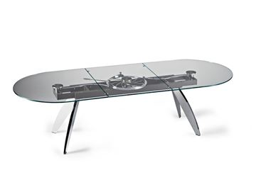 Picture of Naos Quasar Dining Table Oval Glass