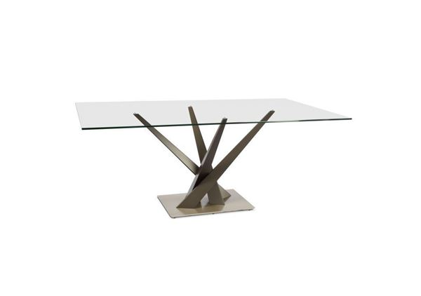 Picture of Elite Modern Dining Table Crystal 394REC-74 Grand Size