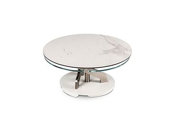 Picture of Naos Blossom Coffee Table Keramik Statuario and Ice