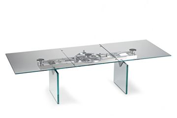 Picture of Naos Quasar Dining Table Rectangular Glass