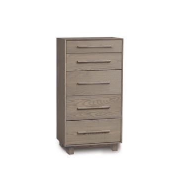 Picture of Copeland Furniture Sloane 5 Drawer Narrow Tall Chest in Solid Ash