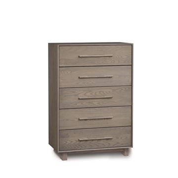 Picture of Copeland Furniture Sloane 5 Drawer Wide Tall Chest in Solid Ash