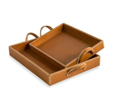 Picture of Moderna Casa Leather Trays - Tan
