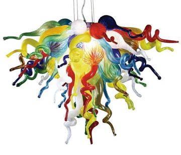 Picture of VIZ Glass Chandelier Multi Color
