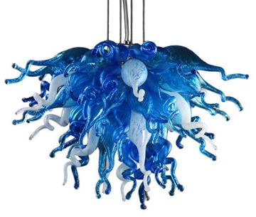 Picture of VIZ Glass Chandelier Blue Love