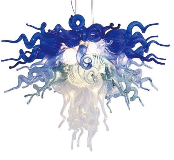 Picture of VIZ Glass Chandelier Blue Ombre