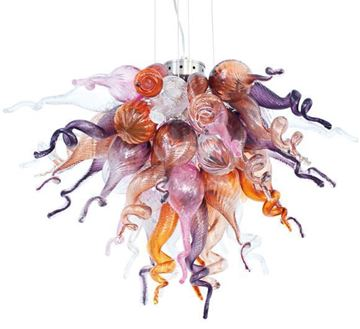 Picture of VIZ Glass Chandelier Color Select 1613