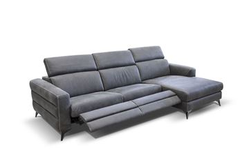"Picture of BRACCI ERMES SOFA CHAISE RIGHT 116"" DUAL RECLINING"