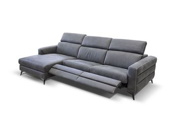 "Picture of Bracci Ermes Sofa Chaise Left 116"" Dual Reclining"