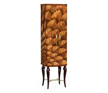 Picture of Jonathan Charles Feather Inlay Drinks Cabinet