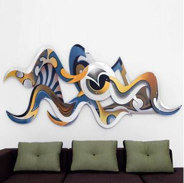 Picture of H Studio Vision Wall Sculpture Blues and Golds