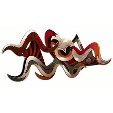 Picture of H Studio Vision Wall Sculpture Reds and Oranges