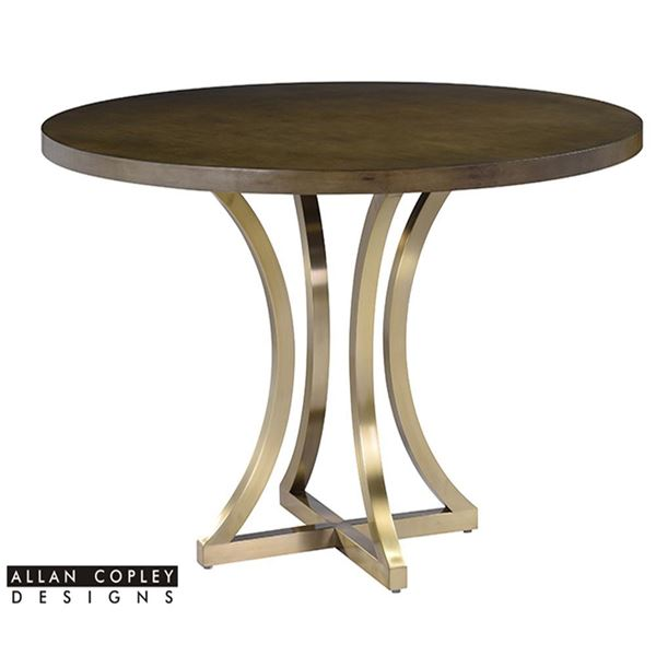Picture of Allan Copley Iris Dining Table Grey Cherry on Birch