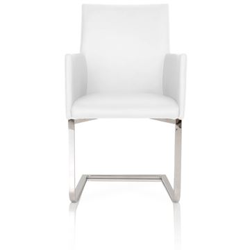 Picture of Star International Bo Dining Chair in White Leather