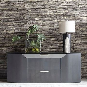 Picture of Elite Modern Haven Credenza Gray Walnut