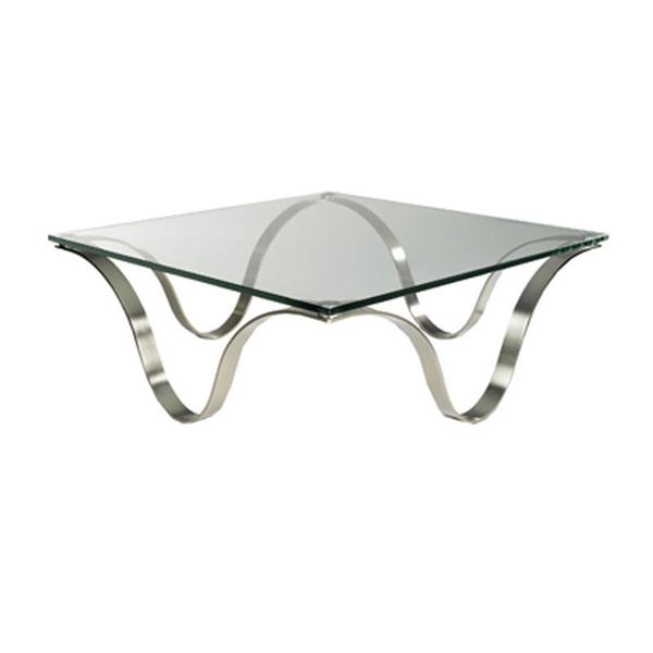 Picture of Bellini Modern Murano Coffee Table - Brushed Nickel