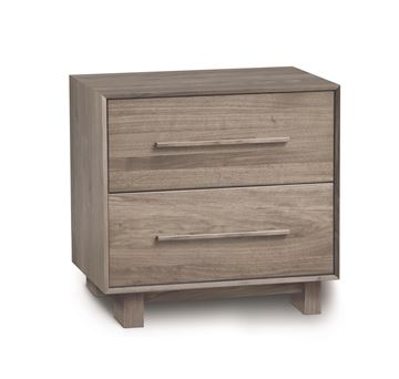 Picture of Copeland Furniture Sloane Solid Ash 2 Drawer Nightstand