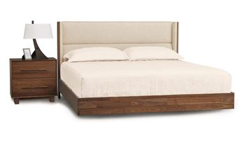 Picture of Copeland Furniture Sloane Walnut Queen Platform Bed