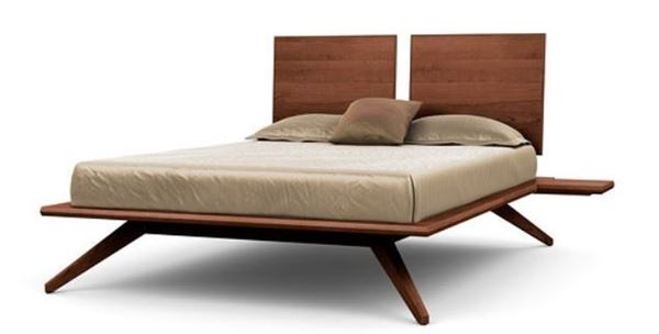 Picture of Copeland Furniture Astrid Bed 2-Panel Cognac Cherry