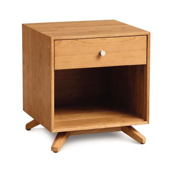 Picture of Copeland Furniture Astrid Nightstand in Natural Cherry With One Drawer