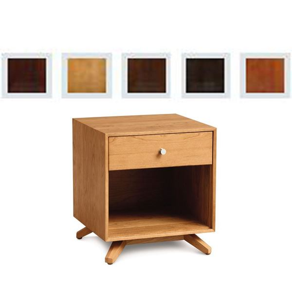Picture of Copeland Furniture Astrid Nightstand in Finished Cherry With One Drawer