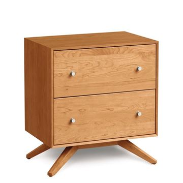 Picture of Copeland Furniture Astrid Nightstand in Natural Cherry With Two Drawers