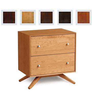 Picture of Copeland Furniture Astrid Nightstand in Finished Cherry With Two Drawers