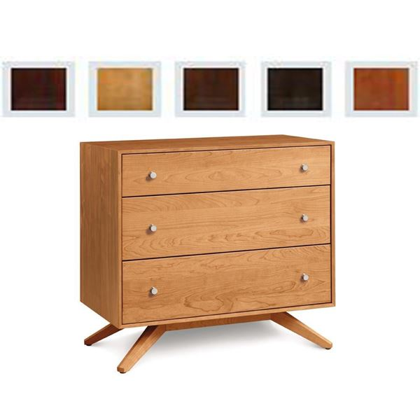Picture of Copeland Furniture Astrid Three Drawer Chest in Cherry