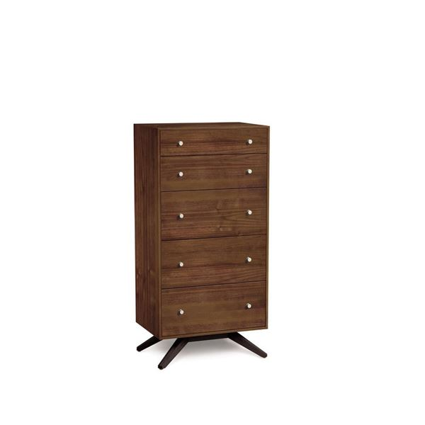 Picture of Copeland Furniture Astrid Walnut Five Drawer Chest