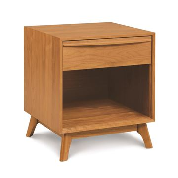 Picture of Copeland Furniture Catalina Cherry One Drawer Shelf Nightstand