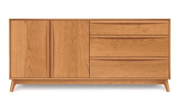 Picture of Copeland Furniture Catalina Cherry Dresser 3-Drawers Right