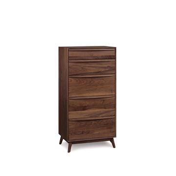 Picture of Copeland Furniture Catalina Walnut Chest 5 Drawer Narrow