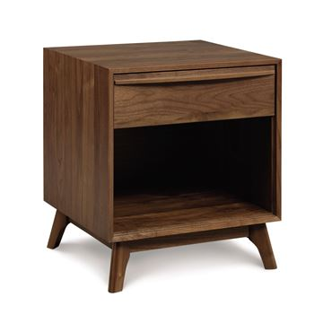 Picture of Copeland Furniture Catalina Walnut One Drawer Shelf Nightstand