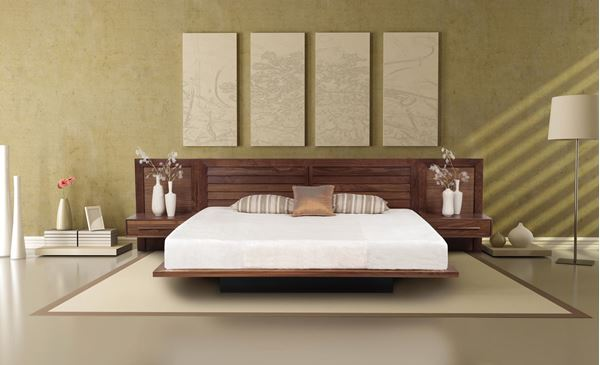 Picture of Copeland Furniture Moduluxe Walnut Bed