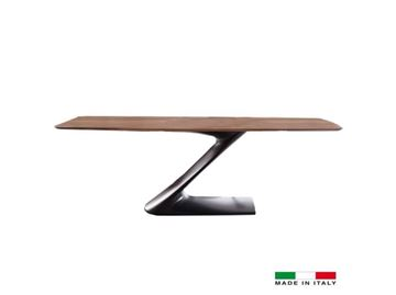 "Picture of Bellini Modern Zeda Dining Table 71"" to 95"" - Anthracite"