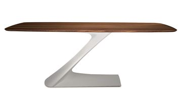 "Picture of Bellini Modern Zeda Dining Table 71"" to 95"" - White"