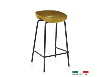 Picture of Bellini Modern Cherry Barstool in Yellow