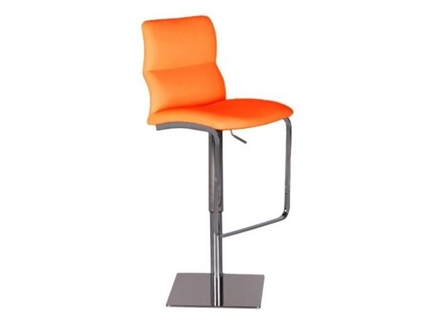 Picture of Bellini Modern Intel Hydraulic Barstool - Tangerine