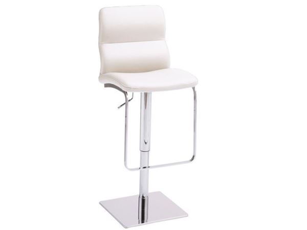 Picture of Bellini Modern Intel Hydraulic Barstool - White