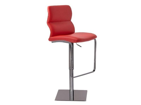 Picture of Bellini Modern Intel Hydraulic Barstool - Red