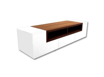 Picture of Bellini Modern Patta TV Media Cabinet in White