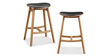 Picture of Greenington Skol Barstool With Leather Seat