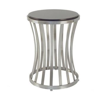 Picture of Allan Copley Alex Stone Top Satin Nickel End Table