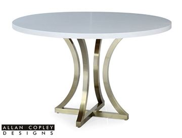 Picture of Allan Copley Iris Dining Table Chalk White on Ash